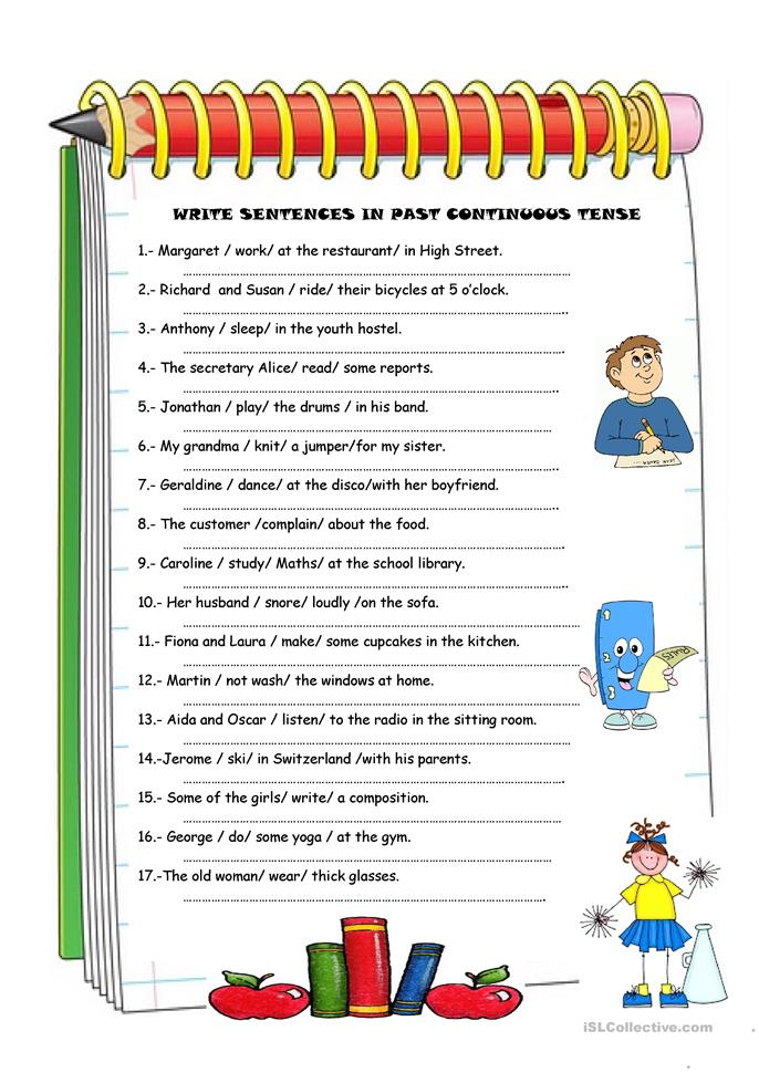 Worksheets Continuous Tense Worksheet 23 free esl past continuous tense worksheets tense