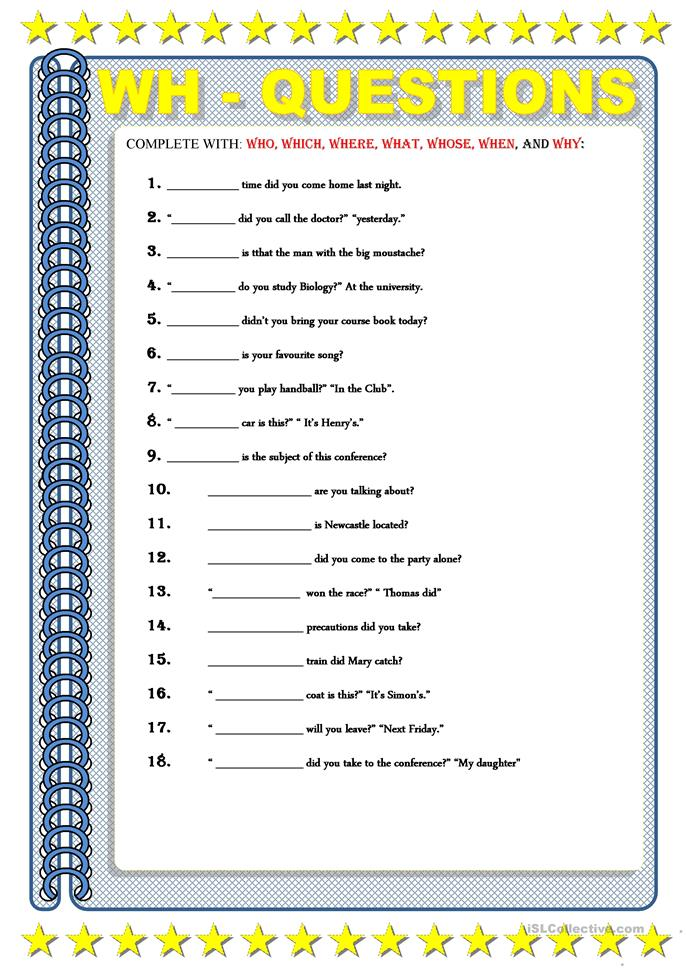 wh questions worksheet - Free ESL printable worksheets made by ...