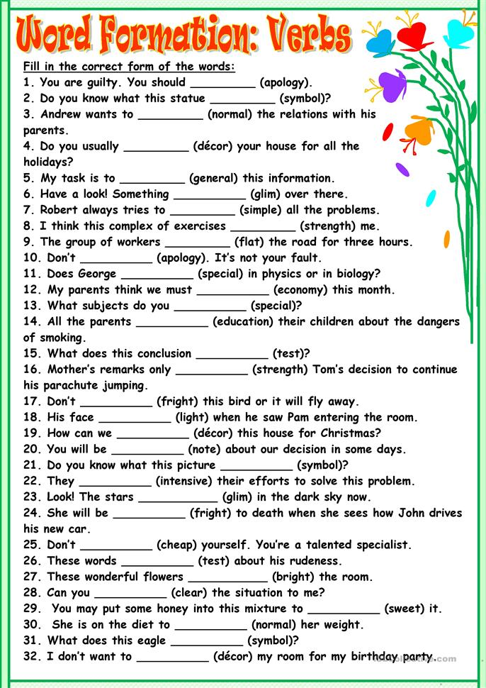 big_54997_word_formationverbs_1 Teaching First Grade Reading Comprehension on