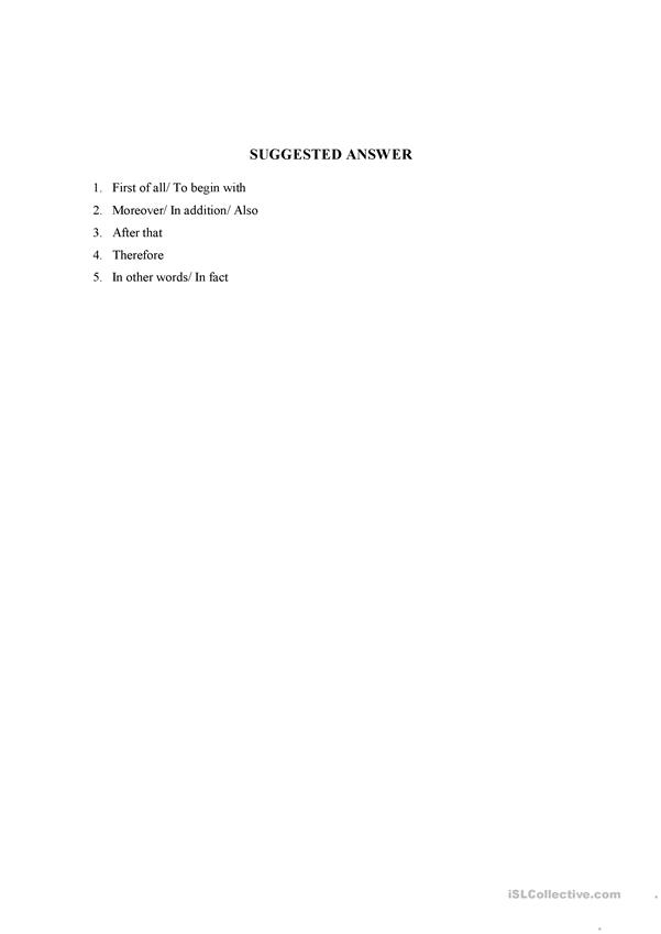 coherence in writing a paragraph worksheet