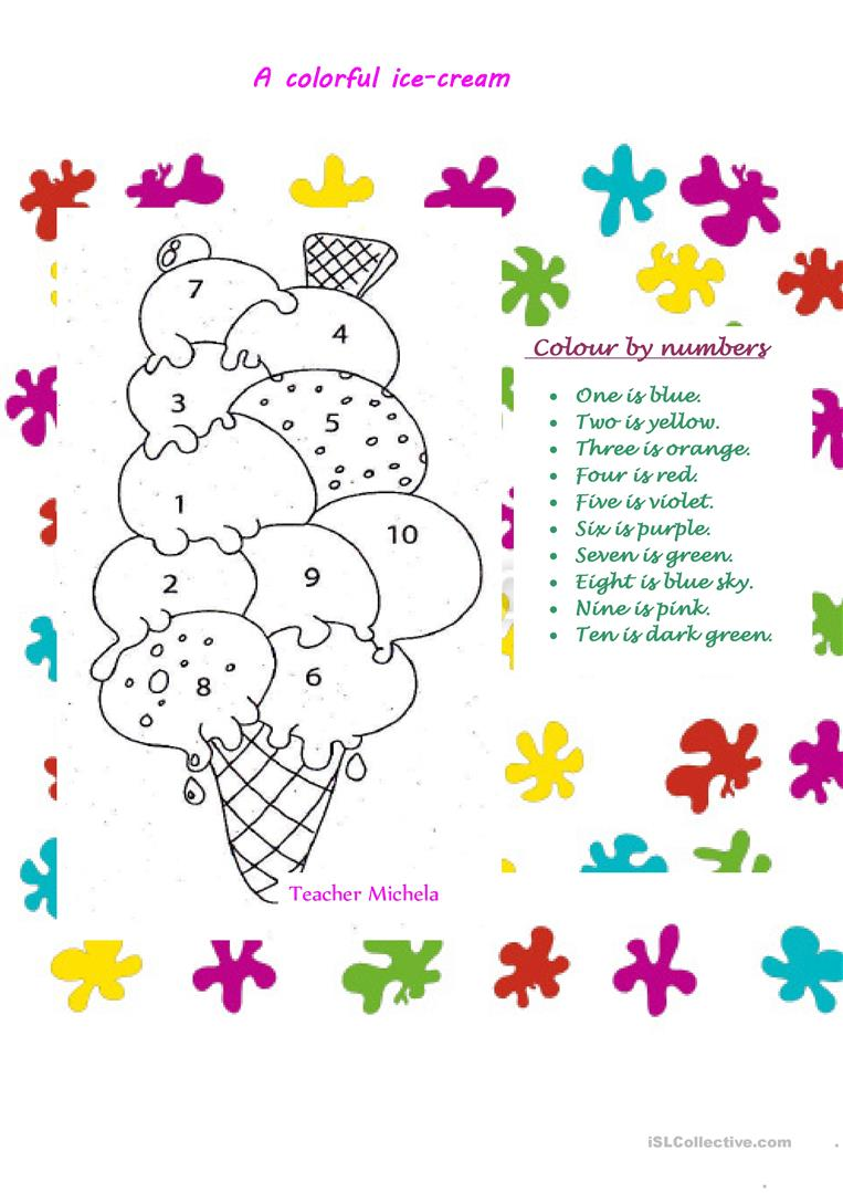17 FREE ESL ice cream worksheets