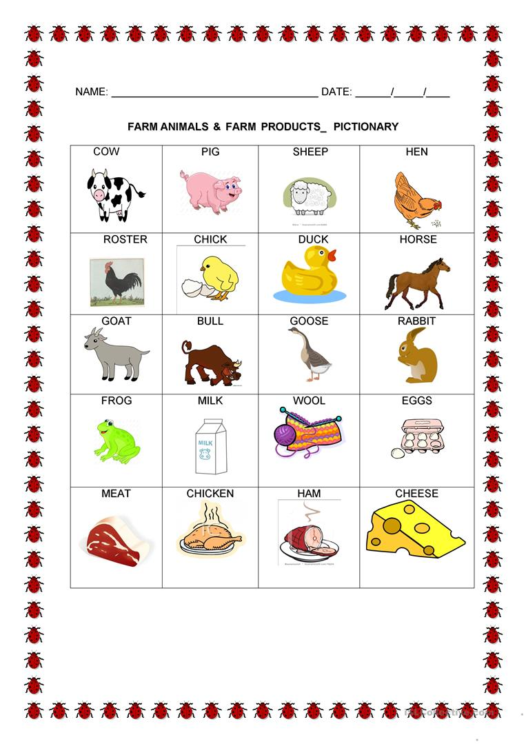 farm animals pictionary worksheet free esl printable worksheets made by teachers. Black Bedroom Furniture Sets. Home Design Ideas
