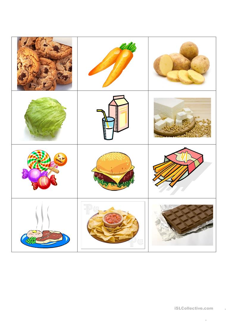 Healthy And Unhealthy Food Worksheet - Mmosguides