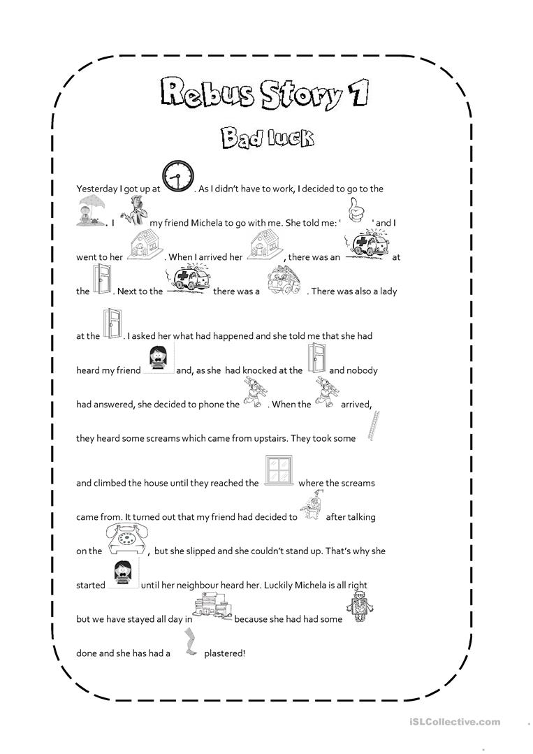 worksheet Rebus Story Worksheets rebus story 1 worksheet free esl printable worksheets made by teachers full screen