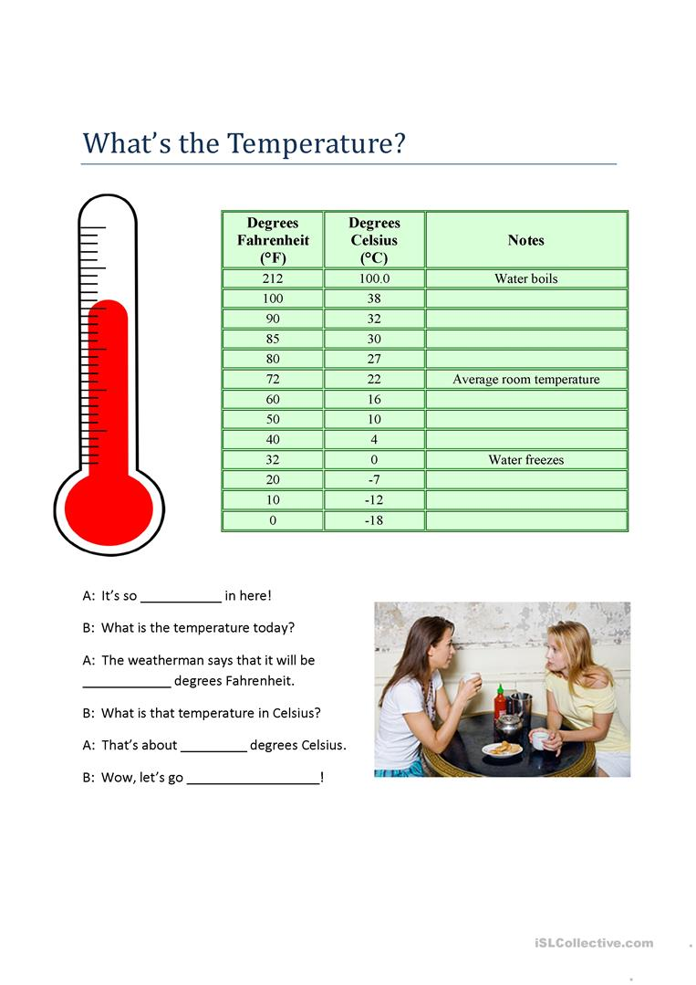 Worksheets Temperature Worksheets whats the temperature worksheet free esl printable worksheets full screen