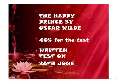 Summary And Vocabulary From The Happy Prince By Oscar Wilde