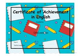 17 free esl certificates powerpoint presentations exercises certificate of achievement 13 yelopaper Choice Image