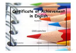 17 free esl certificates powerpoint presentations exercises certificate of achievement 2 yelopaper Choice Image