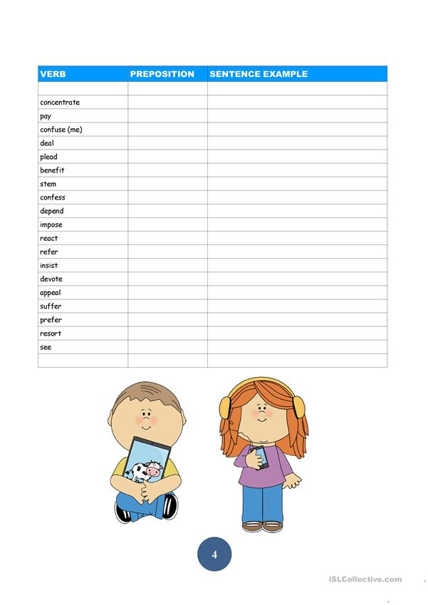 10 page Advanced Prepositions Fill In Practice Sheets