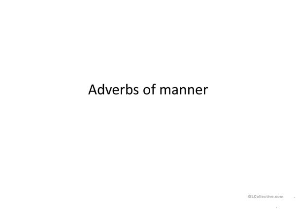 a ppt about adverbs of manner