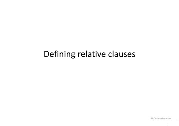 A ppt about defining clauses