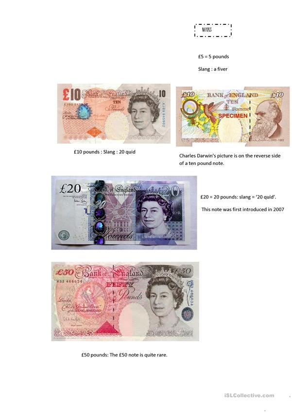 an introduction to English money