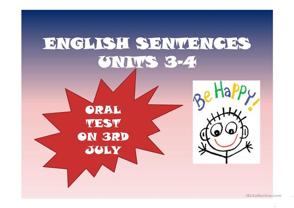 ENGLISH SENTENCES  ON DAILY ROUTINES AND PROFESSIONS UNIT 3-4 FUN WAY 4