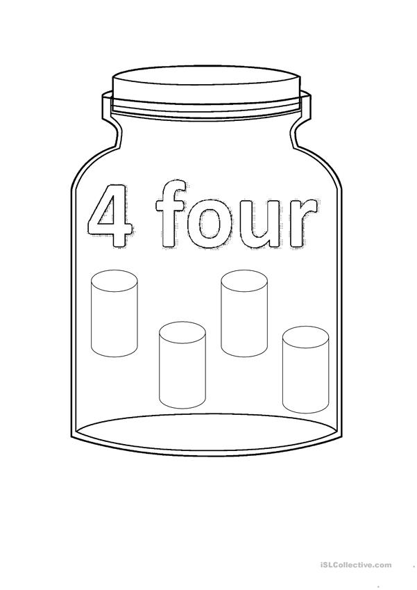 Flashcards - Numbers Jar - 1 to 10
