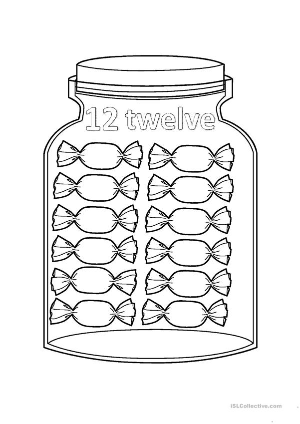 Flashcards - Numbers Jar - From 11 to 20