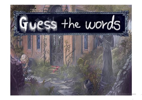 Guess words