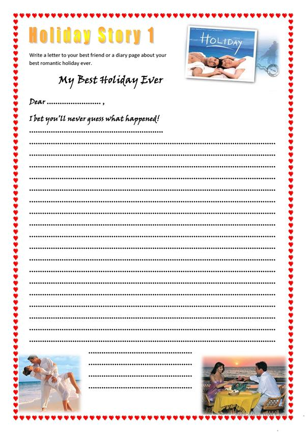 Holiday story writing 1