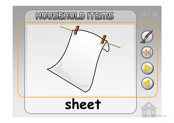 HOUSEHOLD ITEMS PPT