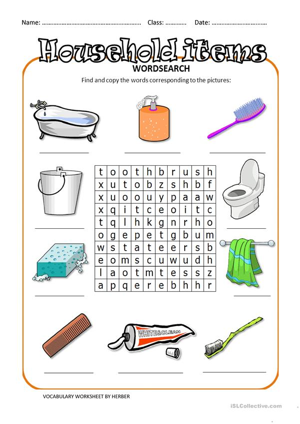 HOUSEHOLD ITEMS WS