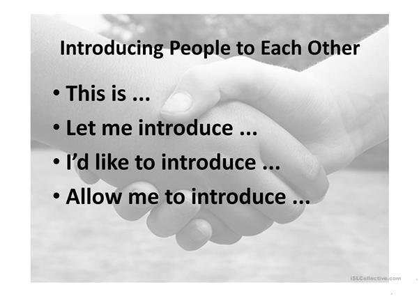 Introducing People