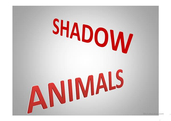 making of animals shadows