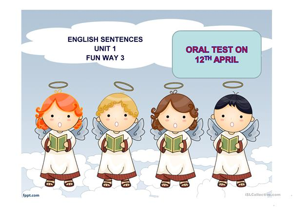oral test on unit 1 Fun Way 3 Richmond publishing