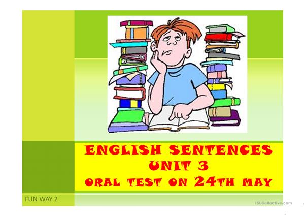 oral test on Units 3-4 english sentences on adjectives and professions