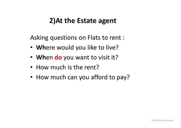 powerpoint on renting a flat