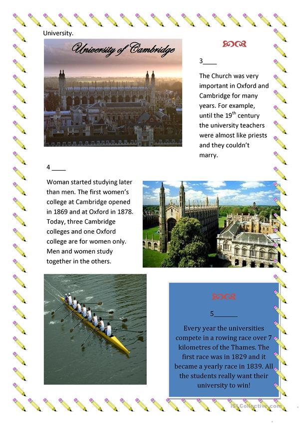 Read about Oxford and Cambridge universities!