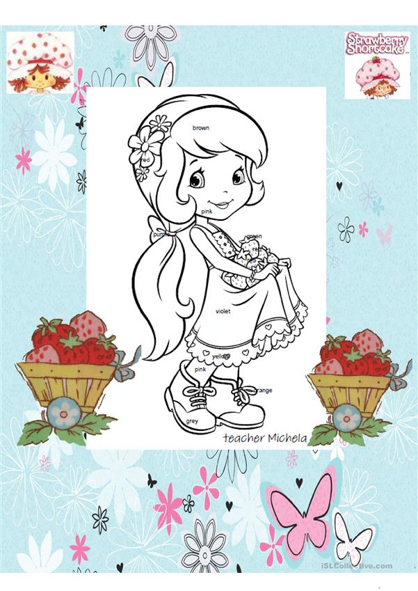 Read and colour Strawberry Shortcake