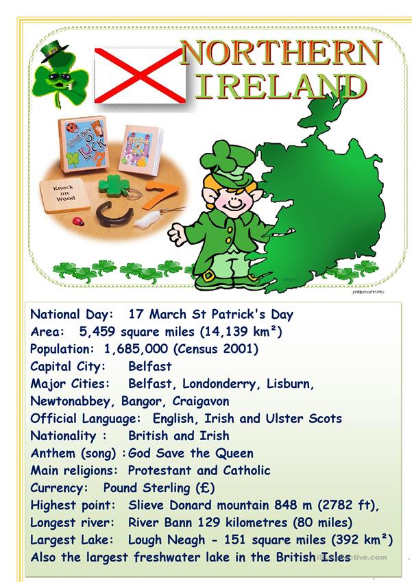 Tell about English-speaking countries Northern Ireland