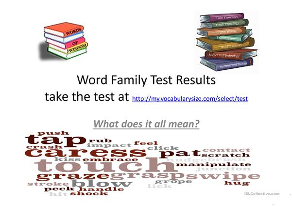 Word Family Presentation