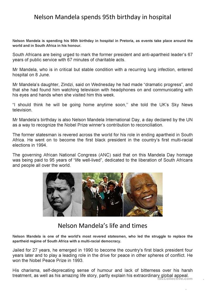 It is a graphic of Rare Nelson Mandela Worksheets