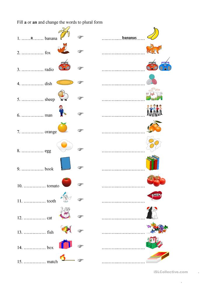 math worksheet : 138 free esl plurals worksheets : Plural Worksheets For Kindergarten
