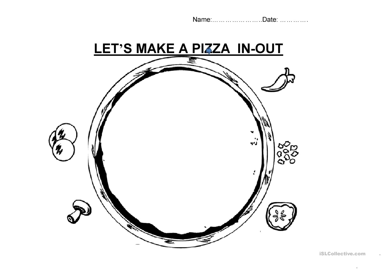photo relating to Pizza Printable titled Allows Deliver A PIZZA - English ESL Worksheets