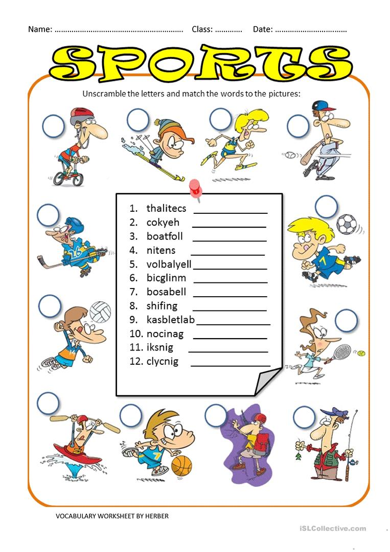 unscramble sports ws worksheet free esl printable worksheets made by teachers. Black Bedroom Furniture Sets. Home Design Ideas