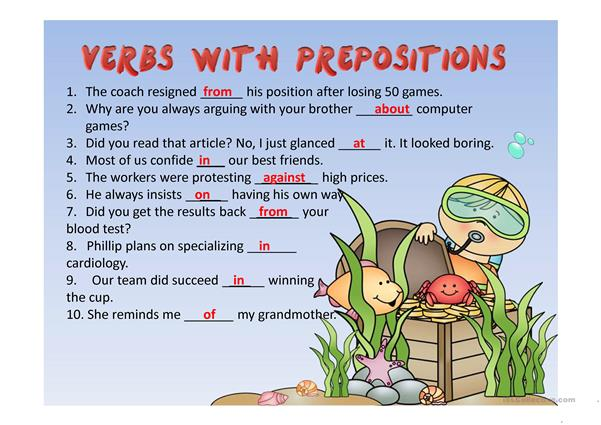 Verbs Followed by Prepositions PPT