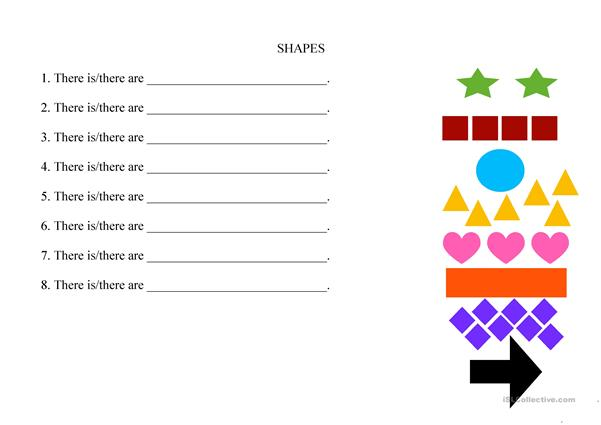 Colours and Shapes, Flashcards