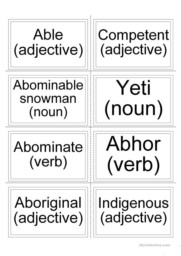 Flashcards - Synonyms