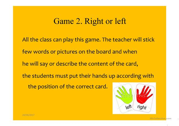 Games for the class