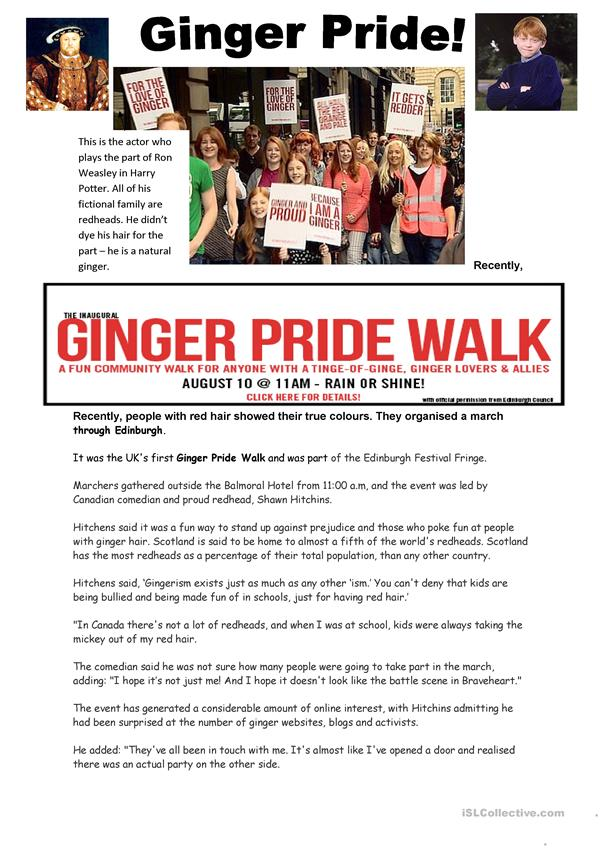 Ginger Pride March