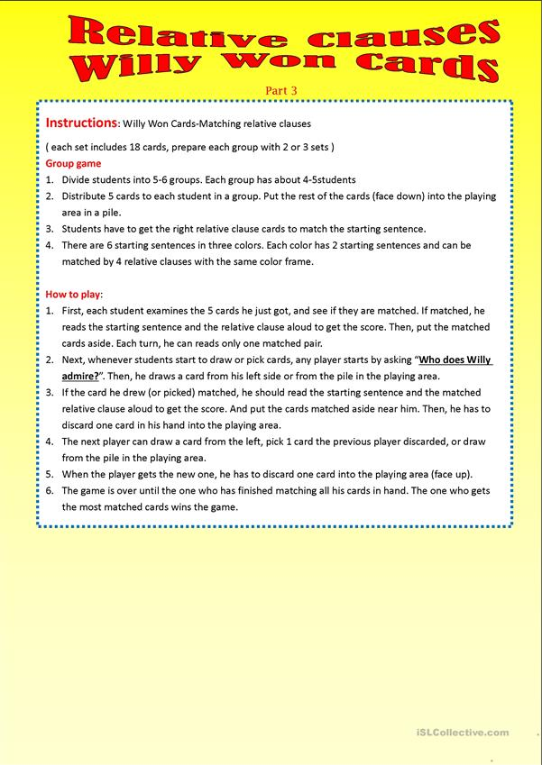 Relative Clauses-Part 3_Willy Won Cards