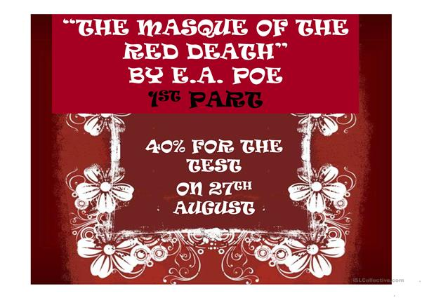 THE MASQUE OF THE RED DEATH QUESTIONS AND VOCABULARY