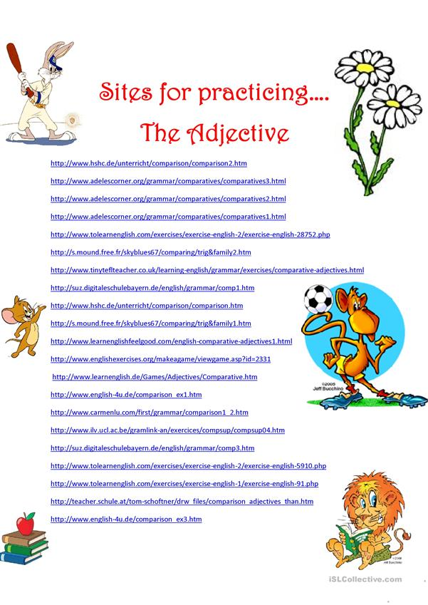 WEB SITES WITH ... ADJECTIVES