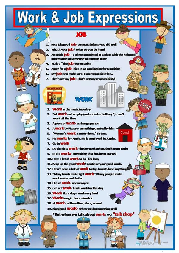 Job and Work Idioms