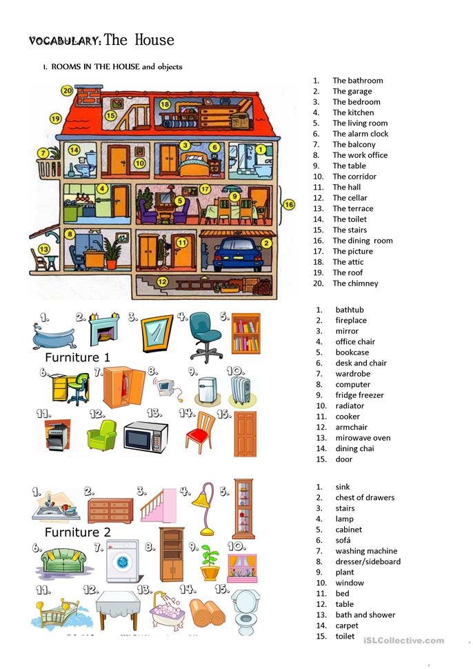 house there be - ESL worksheets
