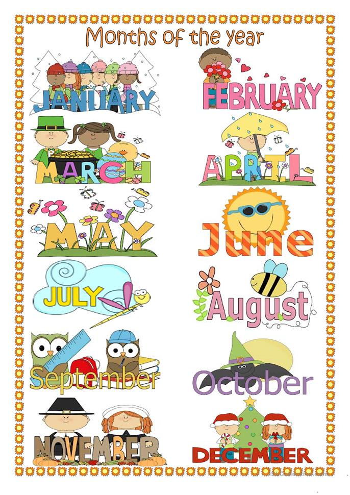Months of the year. worksheet - Free ESL printable worksheets made by ...