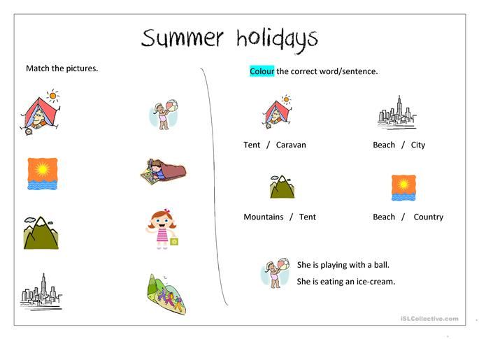 Worksheets Holiday Worksheets summer holiday worksheets worksheet free esl printable made by teachers