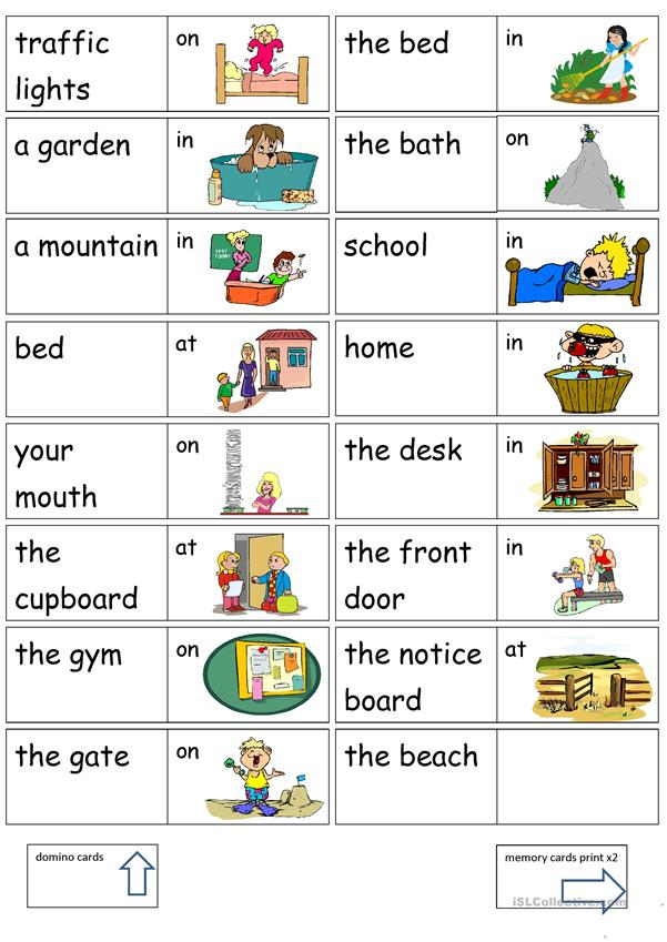 Preposition Of Position To At On Worksheet Free Esl