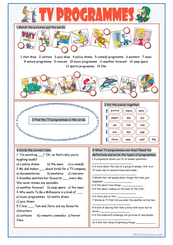 tv programmes vocabulary exercises worksheet free esl printable worksheets made by teachers. Black Bedroom Furniture Sets. Home Design Ideas